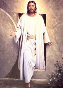 "Del Parson's painting ""He Is Risen"""