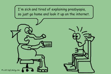 Presbyopia Patient Education - Optoblog Comic #17