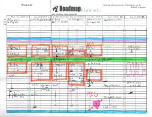 Front page example of the Roadmap Planner