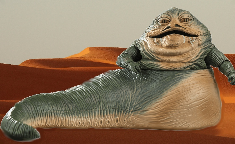 Jabba the Hutt in the desert.